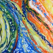Lâcher prise - Huile sur toile - 20x24 - M-LLeymonie - 2014