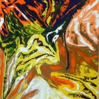 Instant présent - Huile sur toile - 20x24 - MLLeymonie - 2014