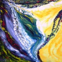 Méditation - Huile sur toile - 20x24 - MLLeymonie - 2014
